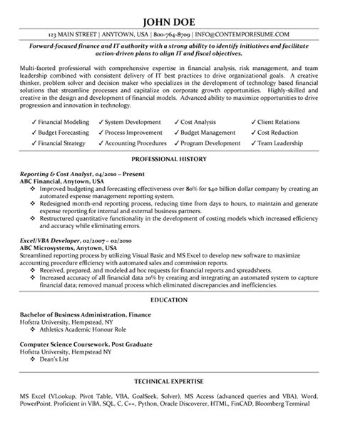 financial analyst skills resume financial analyst resume financial
