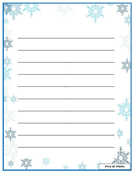 snowflake writing template winter activity ideas and freebies in the journey