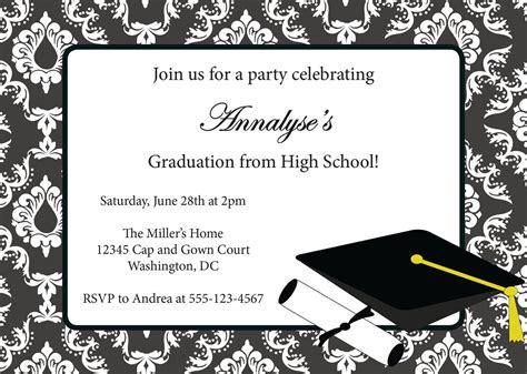 graduation cards free templates graduation invitations invitation card for graduation