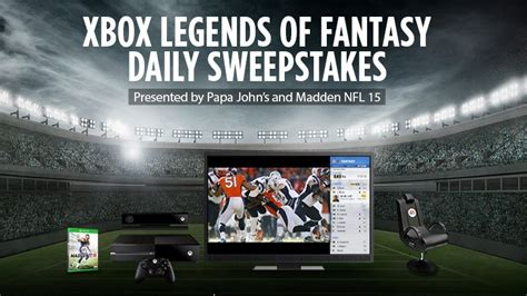 Fantasy Sweepstakes - xbox legends of fantasy sweepstakes