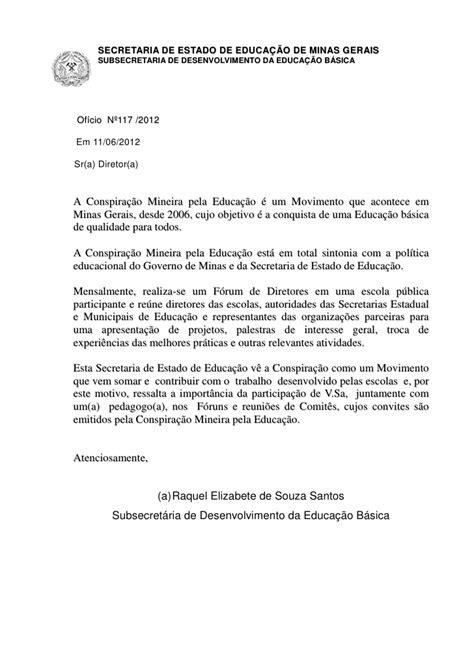 modelo carta formal e informal oficio convite f 243 rum cmpe na escola estadual juscelino kubitscheck de