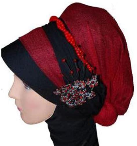 Ciput Kombinasi 2 Warna kombinasi jilbab warna merah maroon dan hitam