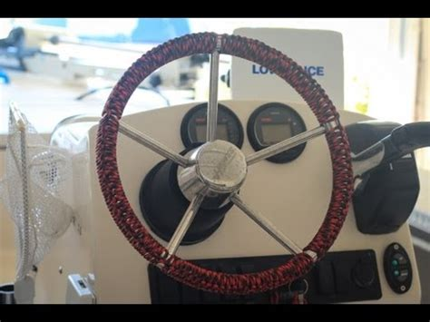 boat steering wheel rope wrap how to make a custom wrap for boat wheel youtube