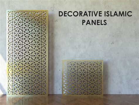 islamic pattern panel  sizes  model max obj fbx