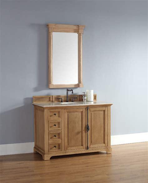 rustic bathroom vanity units 48 inch providence natural oak single sink vanity rustic