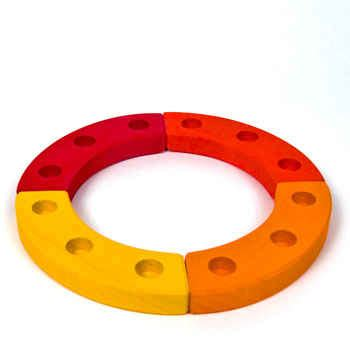 birthday ring 12 holes orange/yellow/red by grimm's spiel