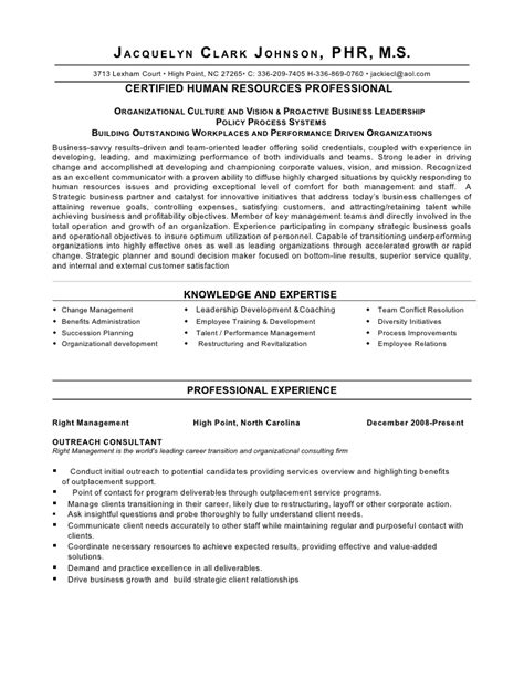 Resume Format For Hr Business Partner Strategic Thinker Business Partner Human Resource Director Shrm P