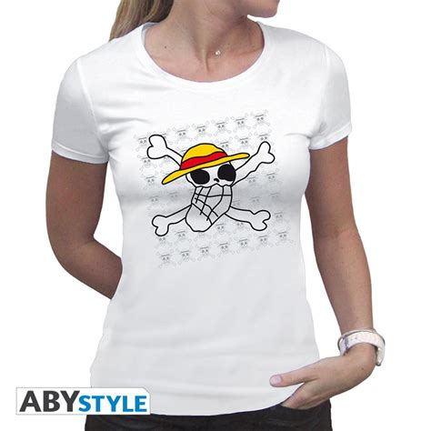One Luffy T Shirt t shirt one blanc logo luffy femme logostore