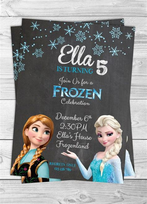 frozen printable etsy frozen chalkboard invitation printable by kwikdesign on