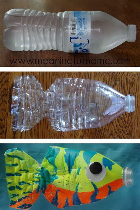 How To Make A Fish Out Of A Paper Plate - water bottle fish craft fish crafts water bottles and fish