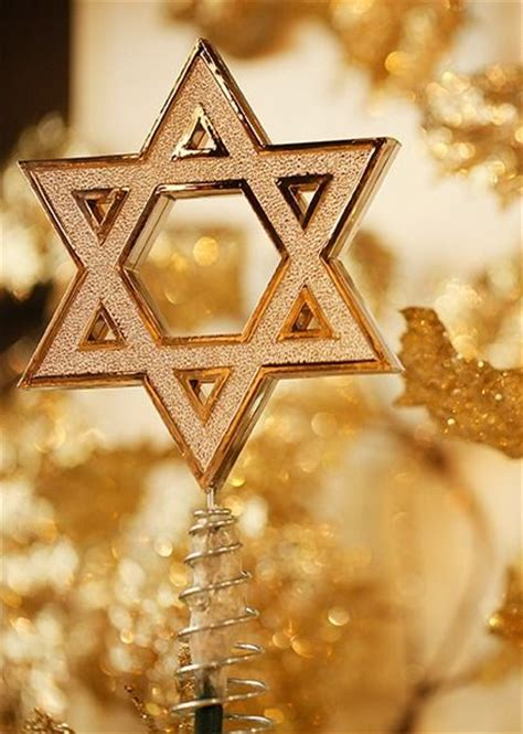 hanukkah tree topper in gold non traditional take on