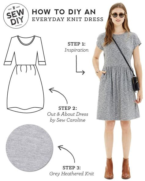 sewing pattern knit dress diy outfit everyday knit dress diy fashion sewing