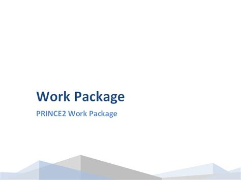 project management work package template prince2 work package template work package