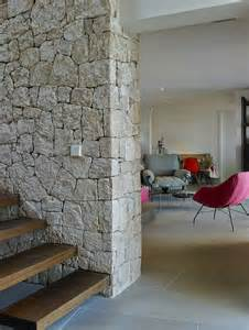 awesome Modern Apartments Interior Design #6: Wood-Stairs-Natural-Stone-W.jpg