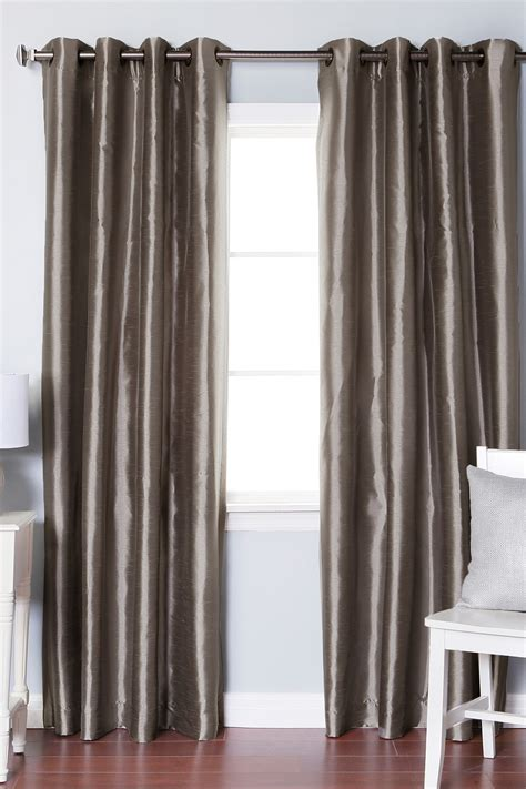 dupioni silk grommet drape best home fashion inc dupioni faux silk grommet top