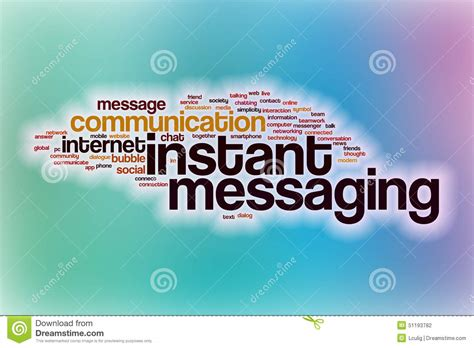 free mobile instant messenger instant messaging word cloud with abstract background