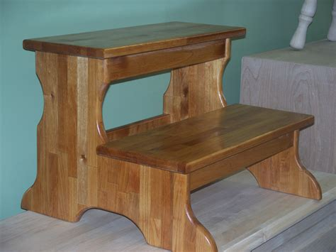 unfinished wood step stool images