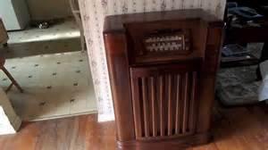 Philco Record Player Cabinet by Restored Philco Console Radio Record Player