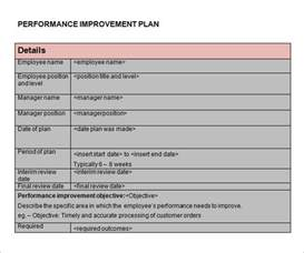 Business Improvement Plan Template Performance Improvement Plan Template 9 Download