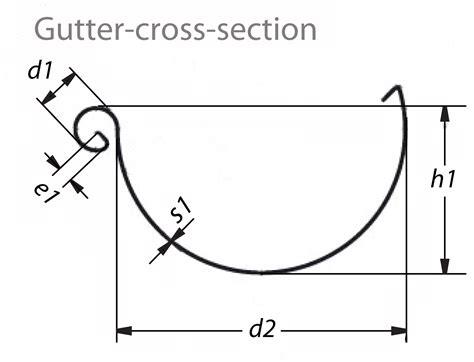 gutter section seamless copper rain gutters