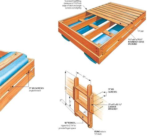 woodworking float wood swim raft plans woodproject