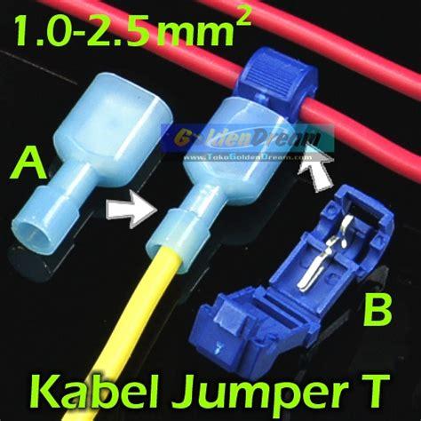 Jumper Kabel Kupas 1 5 Mm jual kabel jumper t biru 1 2 5mm2 wire connector suntik