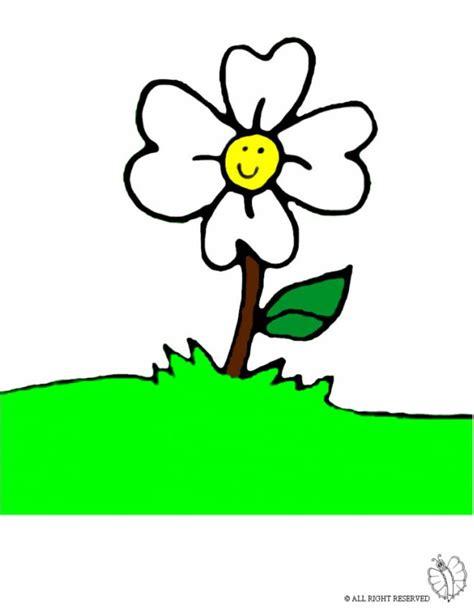 disegno di un fiore disegno di fiore nel prato a colori per bambini