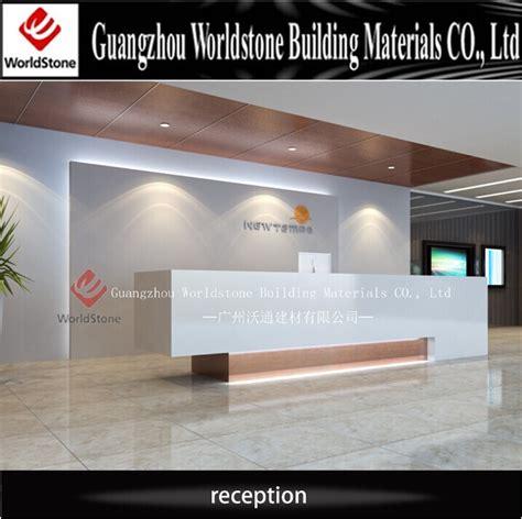 Hotel Reception Counter Design / Pure White Elegant Lobby