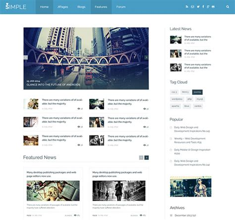 joomla simple template free 208 building a basic joomla 3 template with bootstrap
