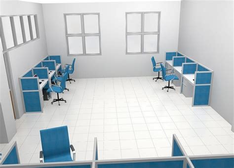 Meja Pelayanan Kantor meja kantor plus sekat separuh badan meja kubikel meja