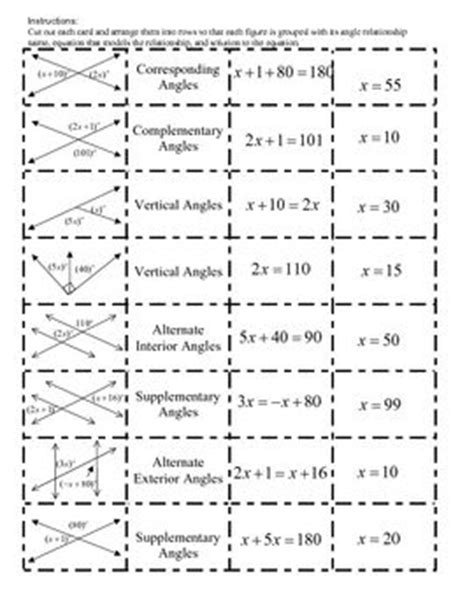 8 g 5 angle relationships strickler wms 8th grade math image gallery angle relationships