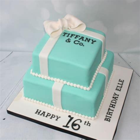16th birthday 2 tier Tiffany Box cake