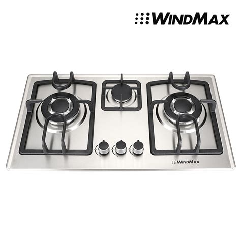 28 Inch Cooktop by Windmax 28 Inch Stainless Steel 3 Burners Built In Stove