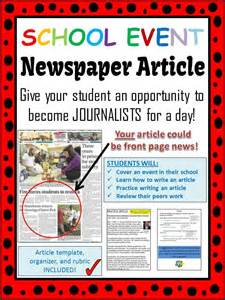 How To Make A News Paper Article - elementary economics unit writing skills student and