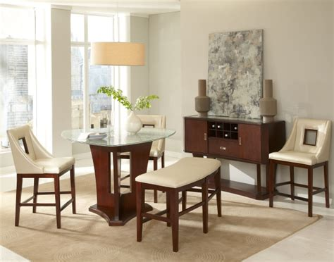 Contemporary Dining Room Furniture Soho Dining With Stools Amp Bench Milano Home Furnishings