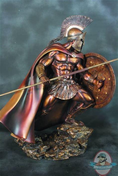 leonidas statue replica full spartan armor 804261 leonidas faux bronze 1 4 scale statue by arh studies man