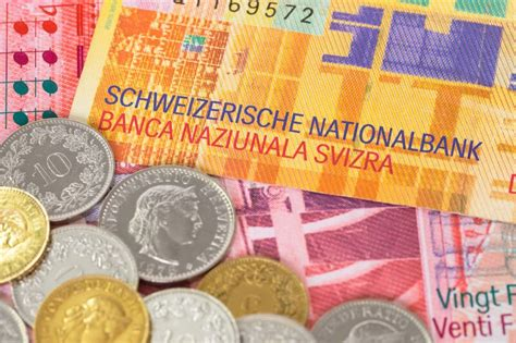currency chf swiss franc slides 4 percent in one week