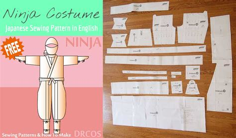 Japanese Ninja Pattern | free japanese sewing pattern in english ninja cosplay