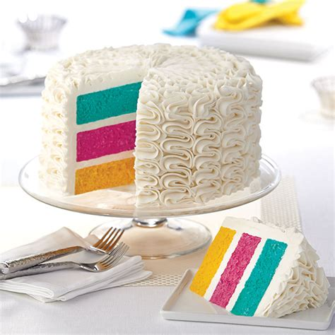 Hochzeitstorte Innen by Zigzags The Rainbow Cake Wilton