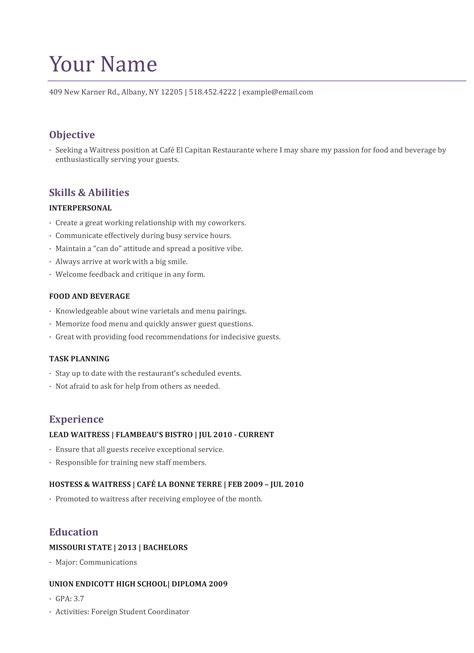 vip host resume resume ideas