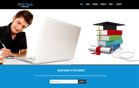 e learning html templates free e learning bootstrap website template webthemez