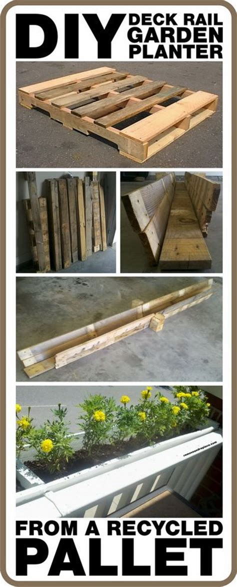 How To Make A Diy Deck Rail Garden Planter From A Recycled Diy Railing Planter
