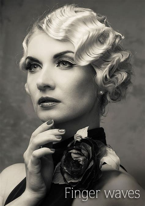 how to do 1920 hairstyle finger waves vintage pin up and wave hair on pinterest