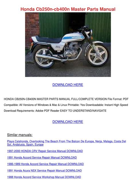 free download parts manuals 2000 acura nsx electronic toll collection honda cb250n cb400n master parts manual by rufusrickard issuu
