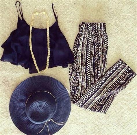 tribal pattern crop top pants aztec tribal pattern black crop tops hat