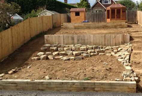Railway Sleepers West Sussex by Railway Sleeper Steps And Retaining Walls
