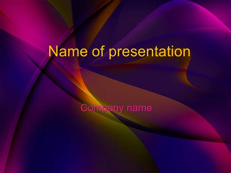 template powerpoint ppt free colored dreams powerpoint template for