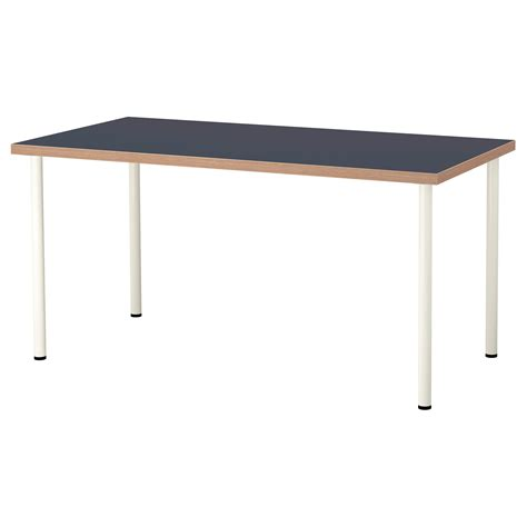 blue and white table adils linnmon table blue white 150x75 cm ikea