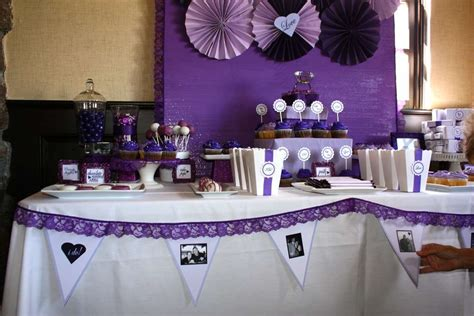bridal shower decoration ideas purple bridal wedding shower ideas photo 1 of 30 catch my