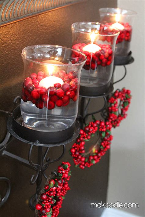 How To Decorate Floating Candles floating candles and fresh cranberries decor makoodle